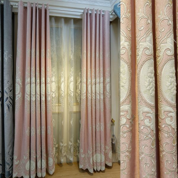Living Room Drop Down Curtains Soundproof 4 Prong Pinch Pleat Jacquard Room Darkening Hanging Curtains From Ceiling 80 Inch By 63 Inch Pink Curtains Drapes,Kitchen Cabinet Storage Solutions Home Depot
